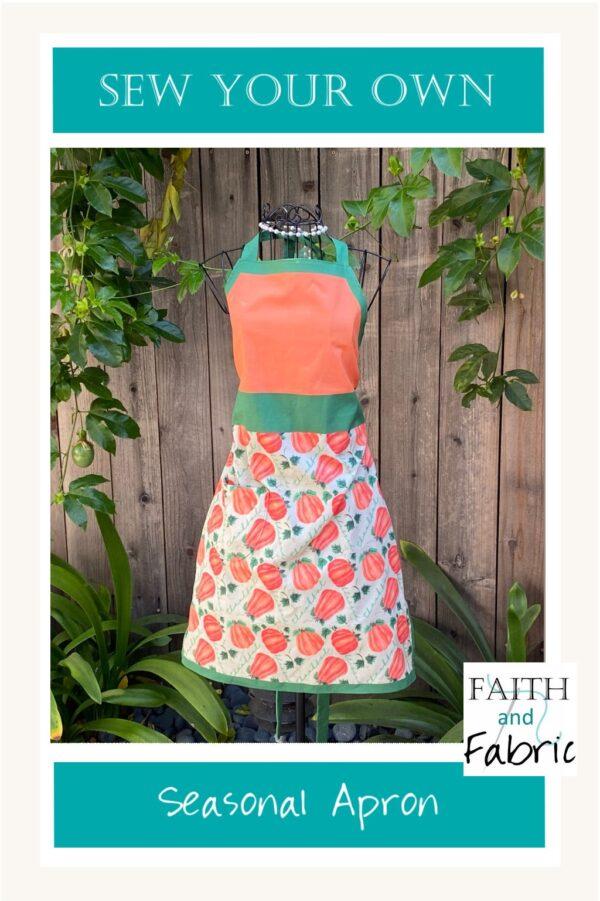 Fall Christian Apron Pattern Fabric 00