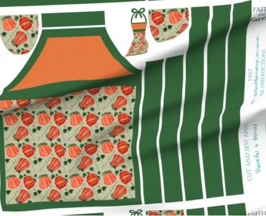 Fall Christian Apron Pattern Fabric 000