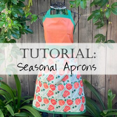 Seasonal Apron Tutorial DIY Christian