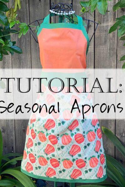 Seasonal Apron Tutorial DIY Christian