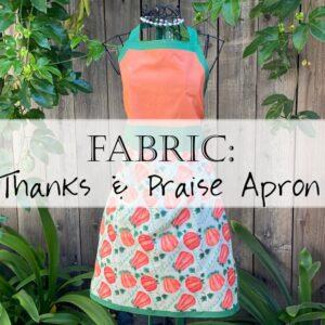 Fall Christian Apron Pattern Fabric 1