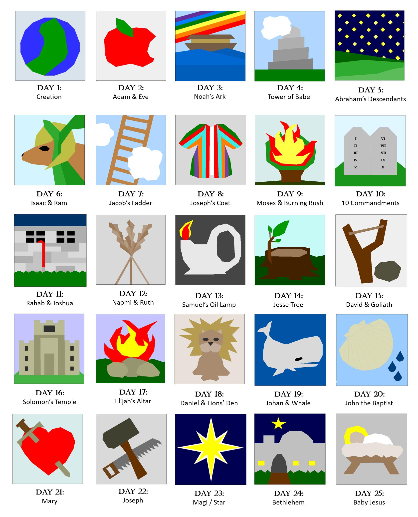 Jesse Tree Quilt Pattern