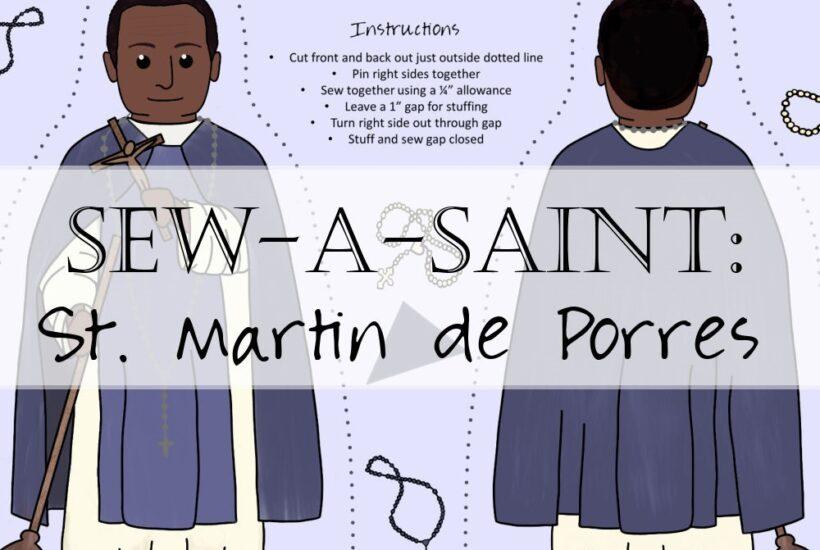 Sew a Saint St Martin de Porres