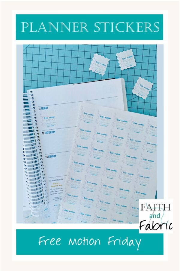 Free Motion Friday Faith and Fabric Stickers 2