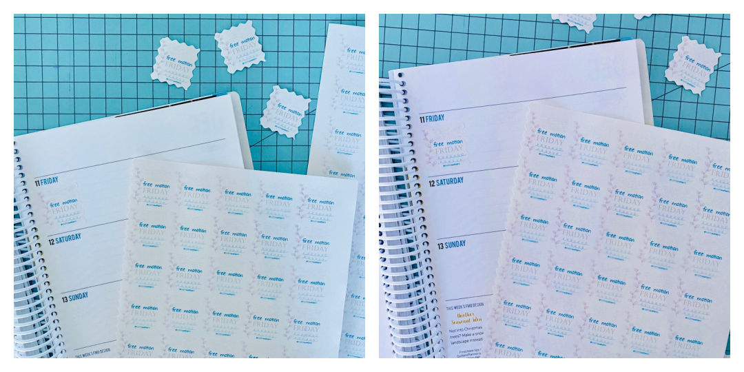 Free Motion Friday with Faith and Fabric Planner