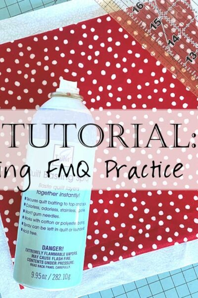 How to Make a Free Motion Quilting Practice Pad Tutorial