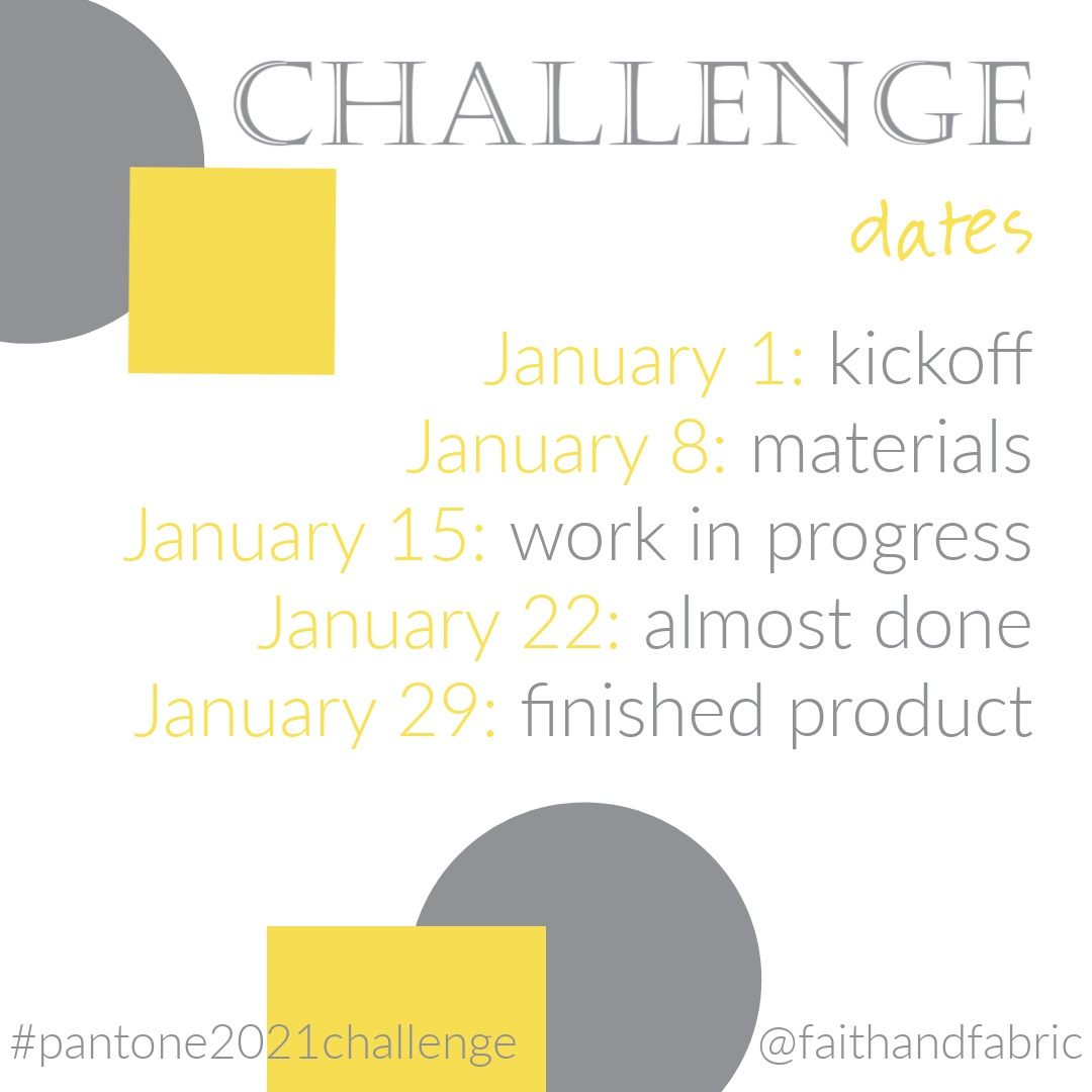 Pantone 2021 Challenge Dates