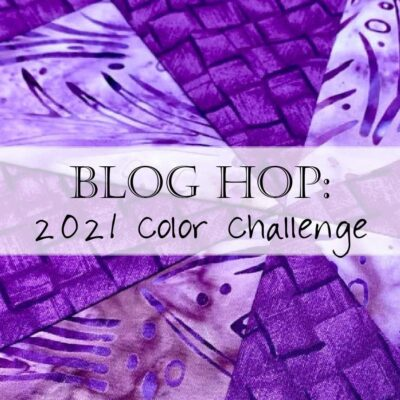 2021 Monthly Color Challenge: Eggplant in January
