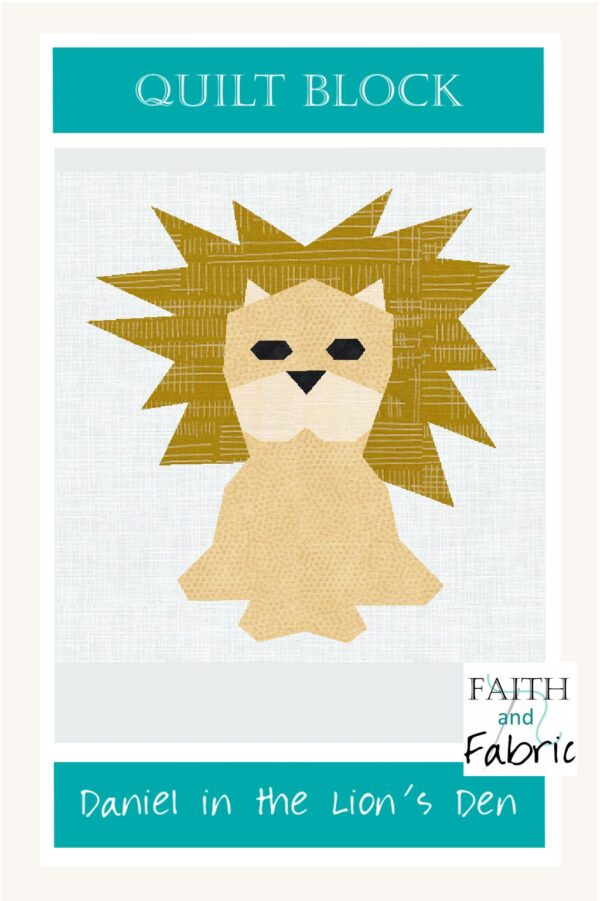 Day 18 Daniel Lion Den Scripture Quilt Block Bible Christian