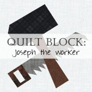 Day 22 Joseph Quilt Block Bible Christian Scripture