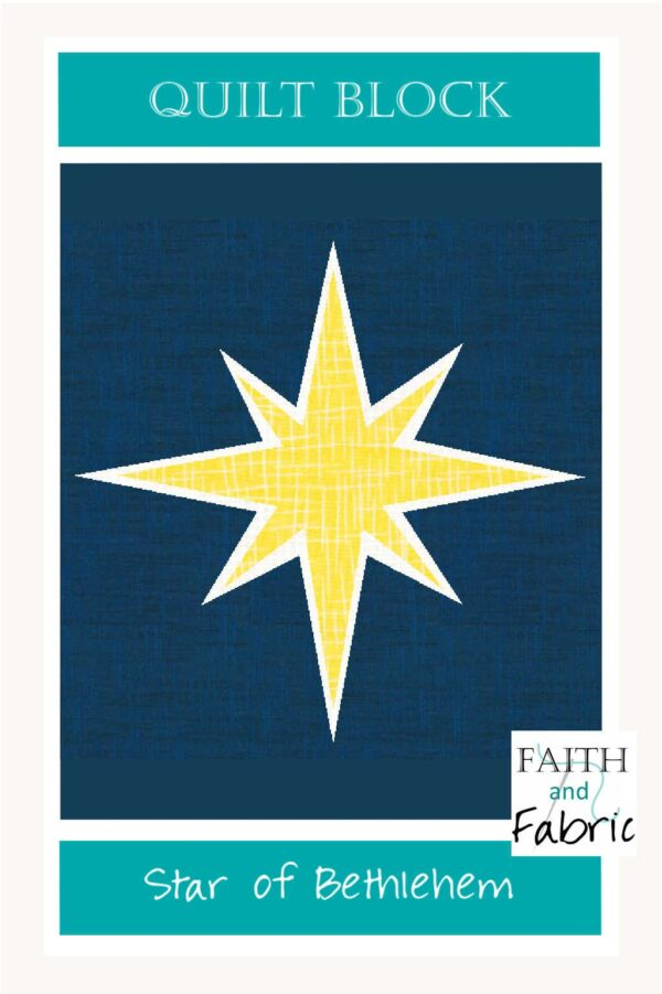 Share the Joy of Christmas night with this Star of Bethlehem quilt block pattern!