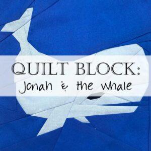 Jonah Whale Quilt Block Pattern 2