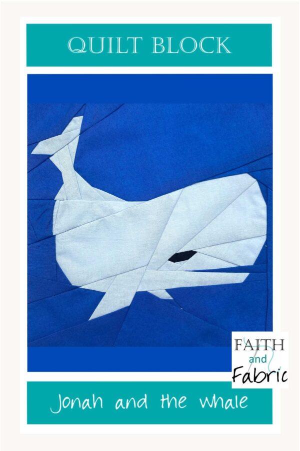 Jonah Whale Quilt Block Pattern