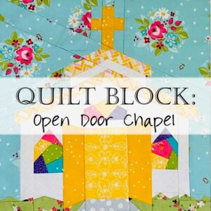Open Door Chapel Quilt Block Pattern Header