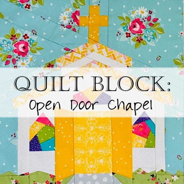 Open Door Chapel Quilt Block Pattern Header