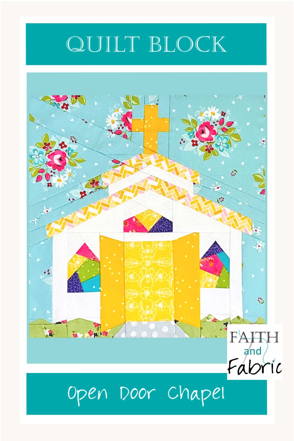 "There's nothing more welcoming than having the doors thrown open wide when you arrive, and that warm sentiment is captured in this chapel quilt block. The doors stand wide open, waiting for you to enter! This quilt block pattern comes in three sizes (8"", 10"", and 12""), and includes a bonus coloring page."