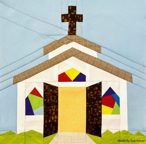 Open Door Chapel Quilt Block Pattern by Sue