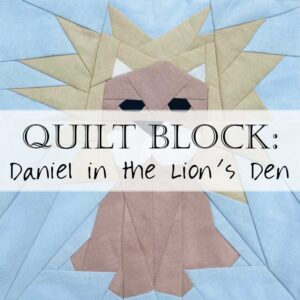 Quilt Block Pattern Daniel Lion Den Header