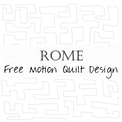 Free Motion Quilting Design: Rome