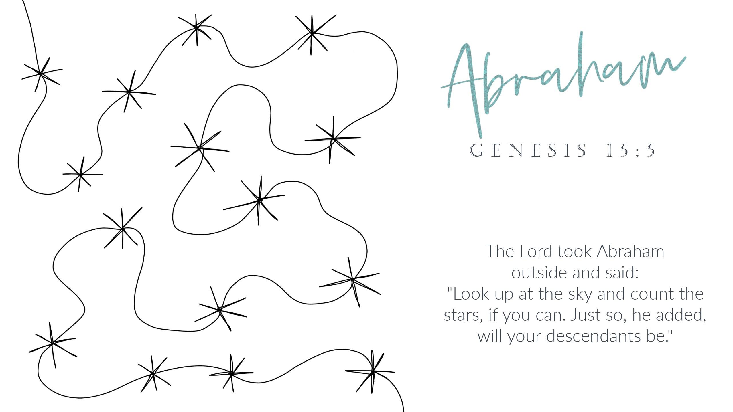 4 Abraham Free Motion Quilting Scripture Design