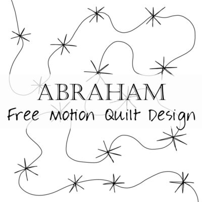 4 Abraham Free Motion Quilting Scripture a