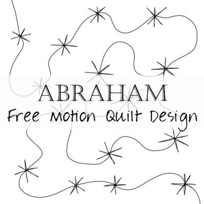 Free Motion Quilting Designs: Abraham