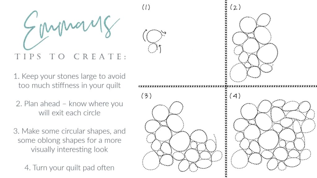 5 Road to Emmaus Free Motion Quilting Design Tutorial Breakdown