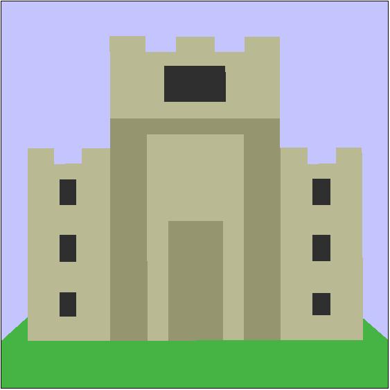King Solomon's Temple Quilt Block Pattern
