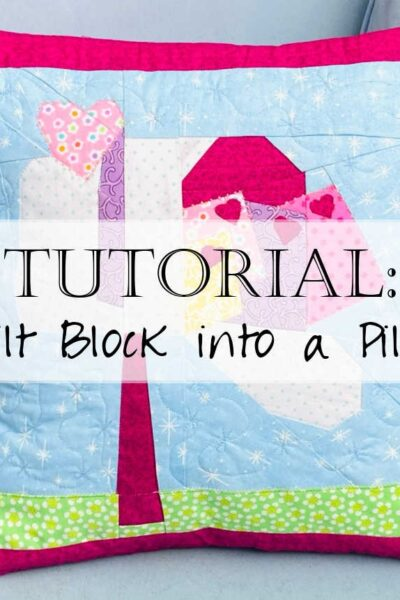 How to make a quilt block into an envelope pillow case 0