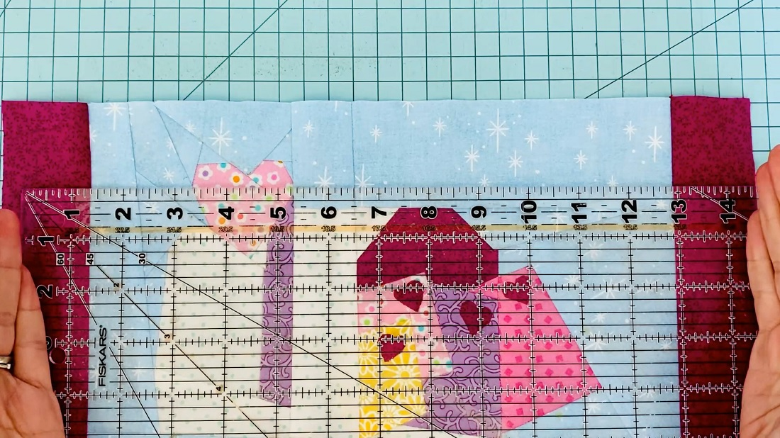 How to make a quilt block into an envelope pillow case 1