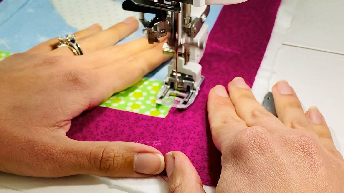 How to make a quilt block into an envelope pillow case 3