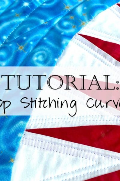 How to topstitch Curves on a Quilt 2