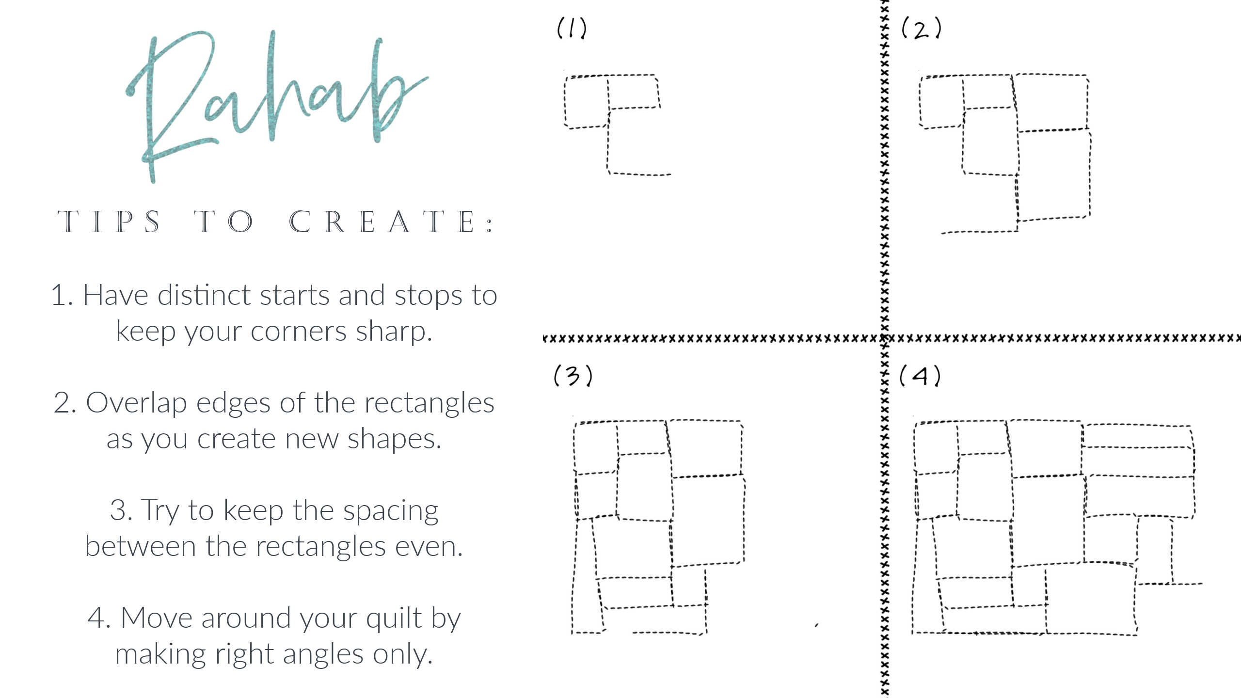 Week 3 Rahab Breakdown Free Motion Quilting Scripture Design