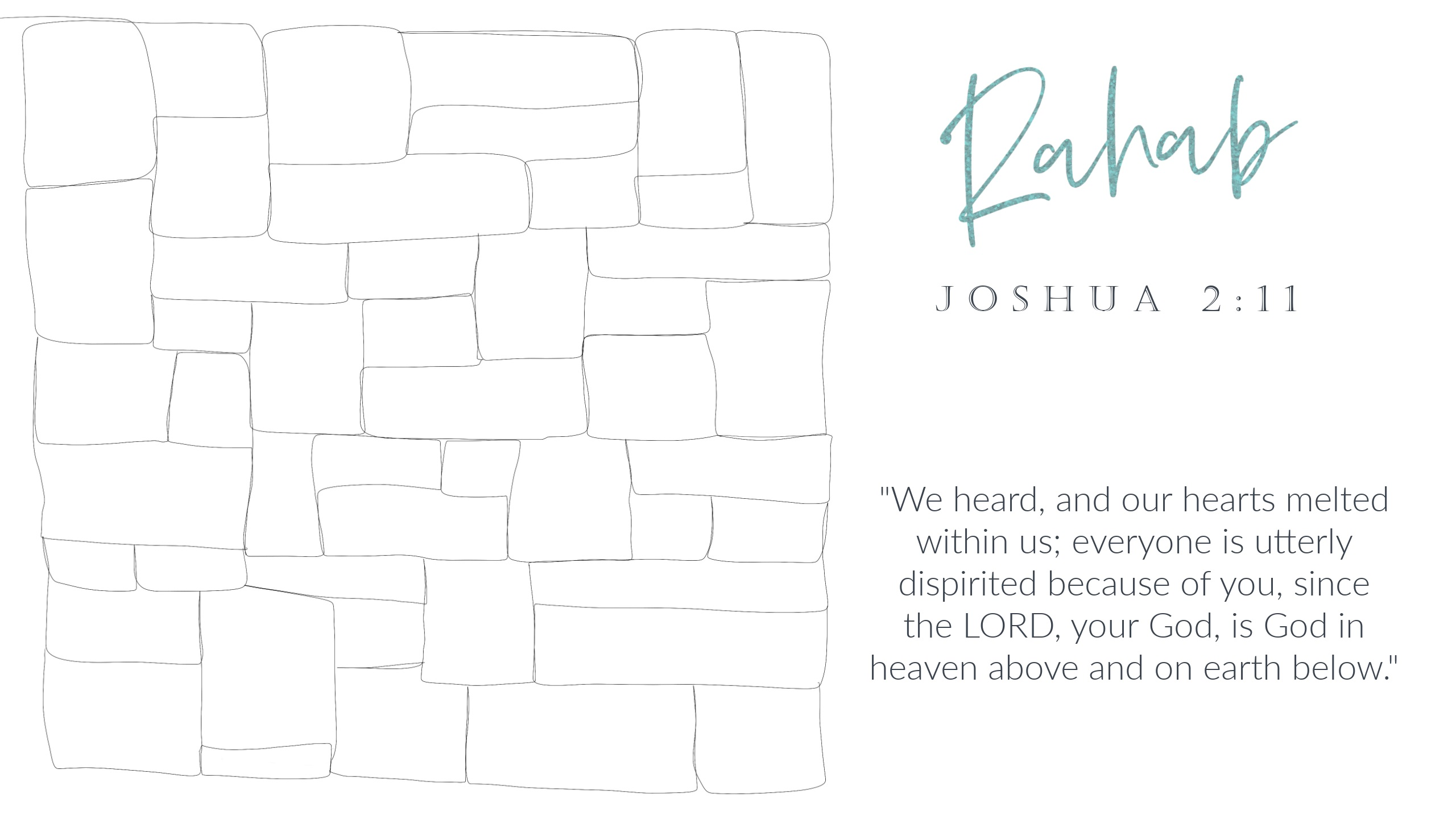 Week 3 Rahab Main Free Motion Quilting Scripture Design