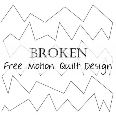 Free Motion Quilting Design: Broken (zig-zag lines)