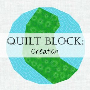 Day 1 Creation Quilt Block Jesse Tree Scripture