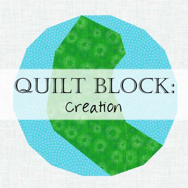 Day 1 Creation Quilt Block Jesse Tree Scripture