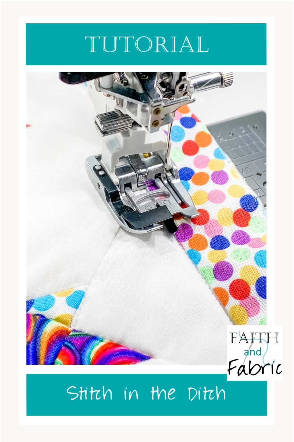 Have you ever wondered how to use your stitch in the ditch foot? Here are three tips for ensuring you get the smoothest result with hidden stitches each time you sew. Sewing with your stitch in the ditch has never been easier!