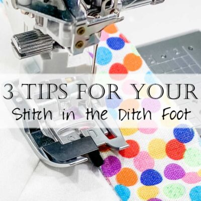 How to Use a Stitch in the Ditch Foot (Janome Brother Pfaff)