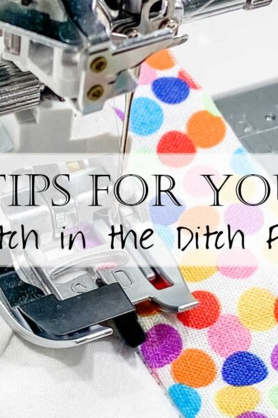 How to Use a Stitch in the Ditch Foot 3