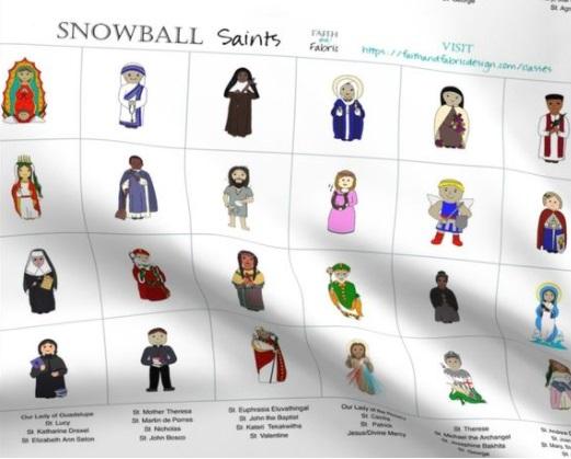 Snowball Saints Fabric Panel Horizontal