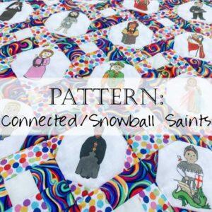 Snowball Saints Quilt Pattern Fabric Catholic