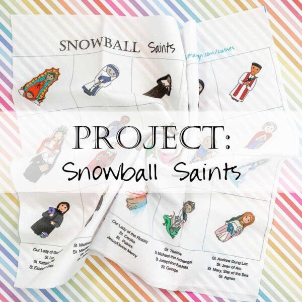 Snowball Saints Quilt Pattern Fabric Catholic Header