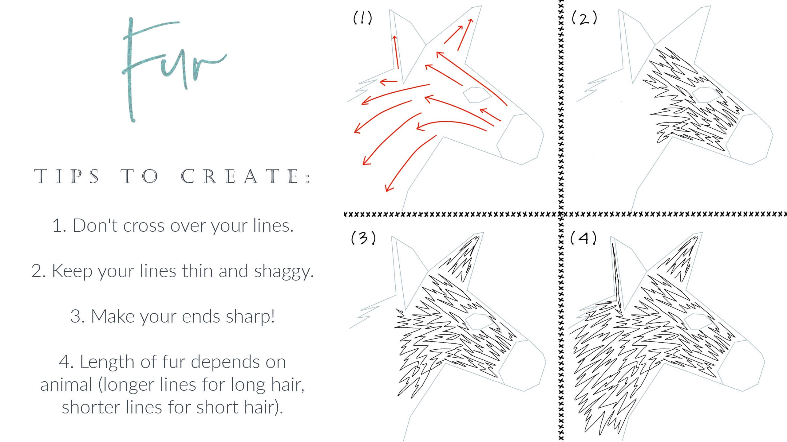 How to Free Motion Quilt Animal Fur Hair Design