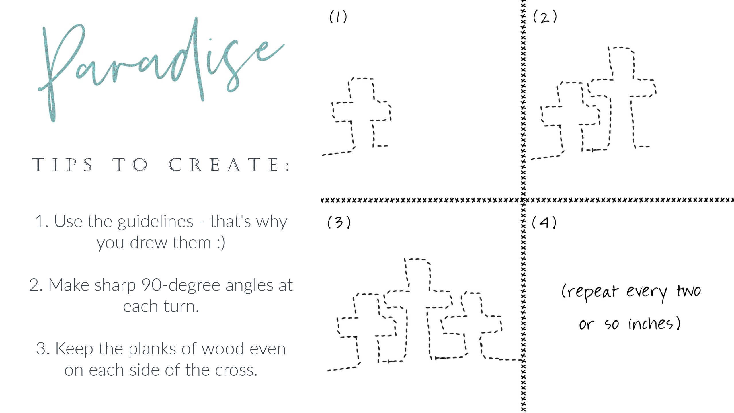 Create a free motion quilt design of the most iconic Christian image: the cross. This basic three cross free motion quilt design would be beautiful in wide quilt borders in a contrasting thread!