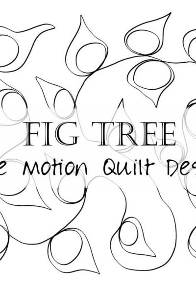 Practice your free motion quilting with this tasty fig design! Within this free motion quilt design, little figs appear throughout the design, creating a visually interesting pattern that meanders through your quilt. This free motion quilt design is great for beginners and advanced quilters alike, and includes a video tutorial to walk you through creating this fmq pattern.