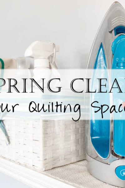 Each of our quilting spaces can use a good cleaning, and spring is the perfect time! Give your space the attention it needs with these five deep cleaning tips. We'll look at ways to clean your iron, cutting mat, glider mat, bobbin case, and even explore ideas for using up quilt blocks and storing patterns.