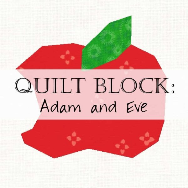 Recreate the bite that changed mankind's trajectory - with a single taste of an apple in this quilt block pattern.