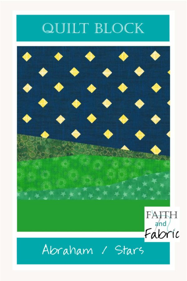 Recreate the night sky in this quilt block pattern, where God told Abraham his descendants would be as numerous as the stars in the sky!