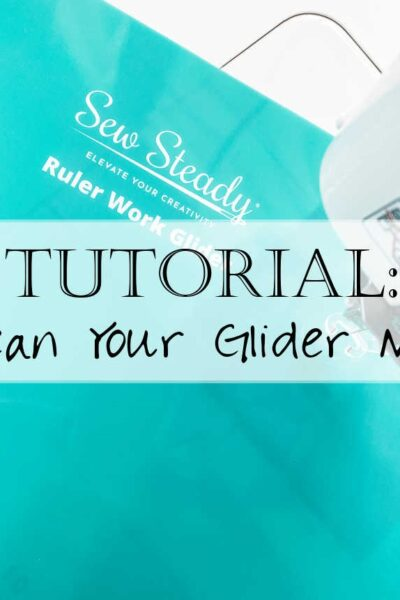 How to Clean Your Sew Steady Glider Slider Mat for Your Sewing Machine when doing Free Motion Quilting Ruler Work